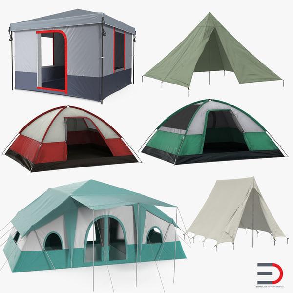 3D camping tents