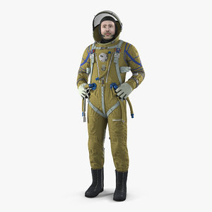 astronaut wearing space suit 3D model