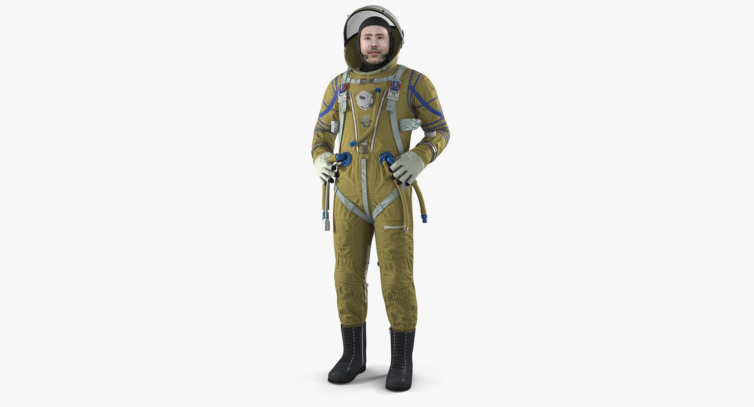 astronaut wearing space suit 3D model
