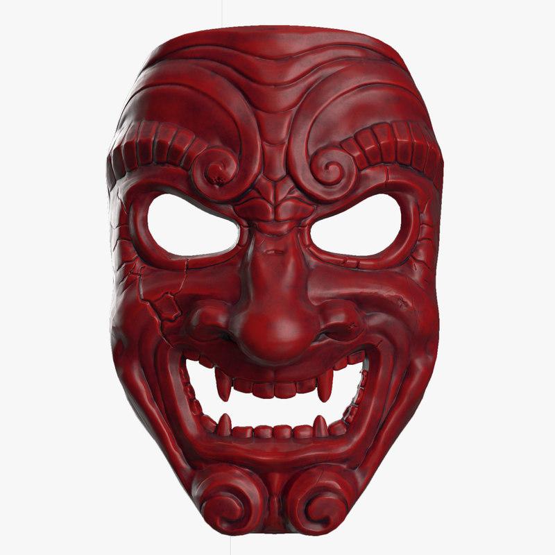 3D samurai mask - TurboSquid 1177431