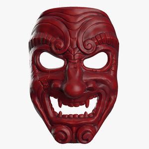 3D samurai mask