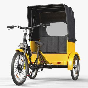 rickshaw taxi bike 3D model