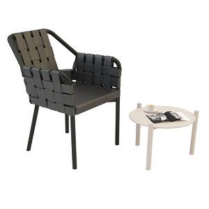 varaschin chair bahia table 3D model