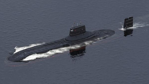 submarine typhoon-class typhoon 3D