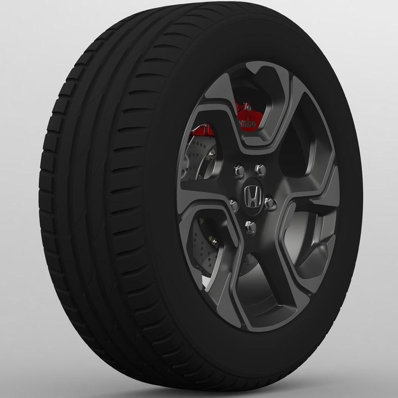 2017 wheel 3D model