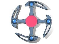 3D model fidget spinner designs