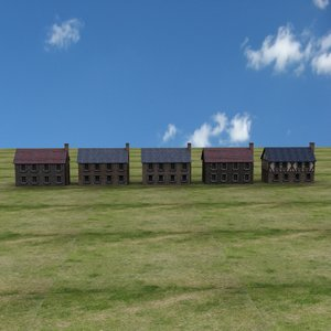 farm houses european 3D model