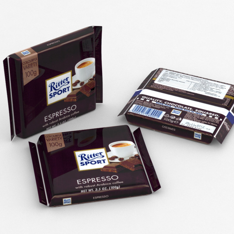 3D ritter sport espresso model
