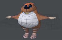 3D beaver cartoon
