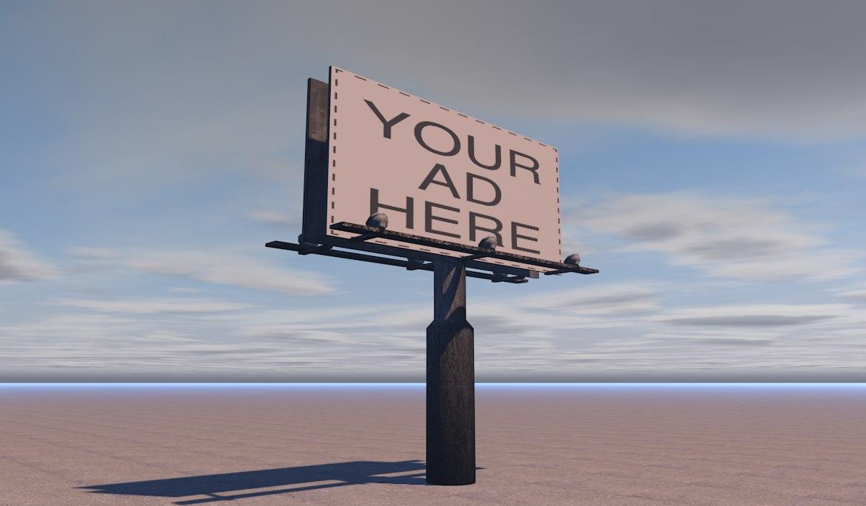 3D billboard games model