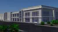 - city industrial building model