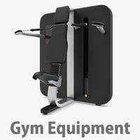 overhead press - 3D model