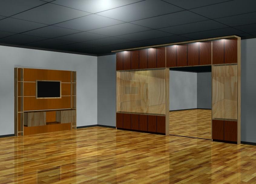 3D model furniture minimalist interior