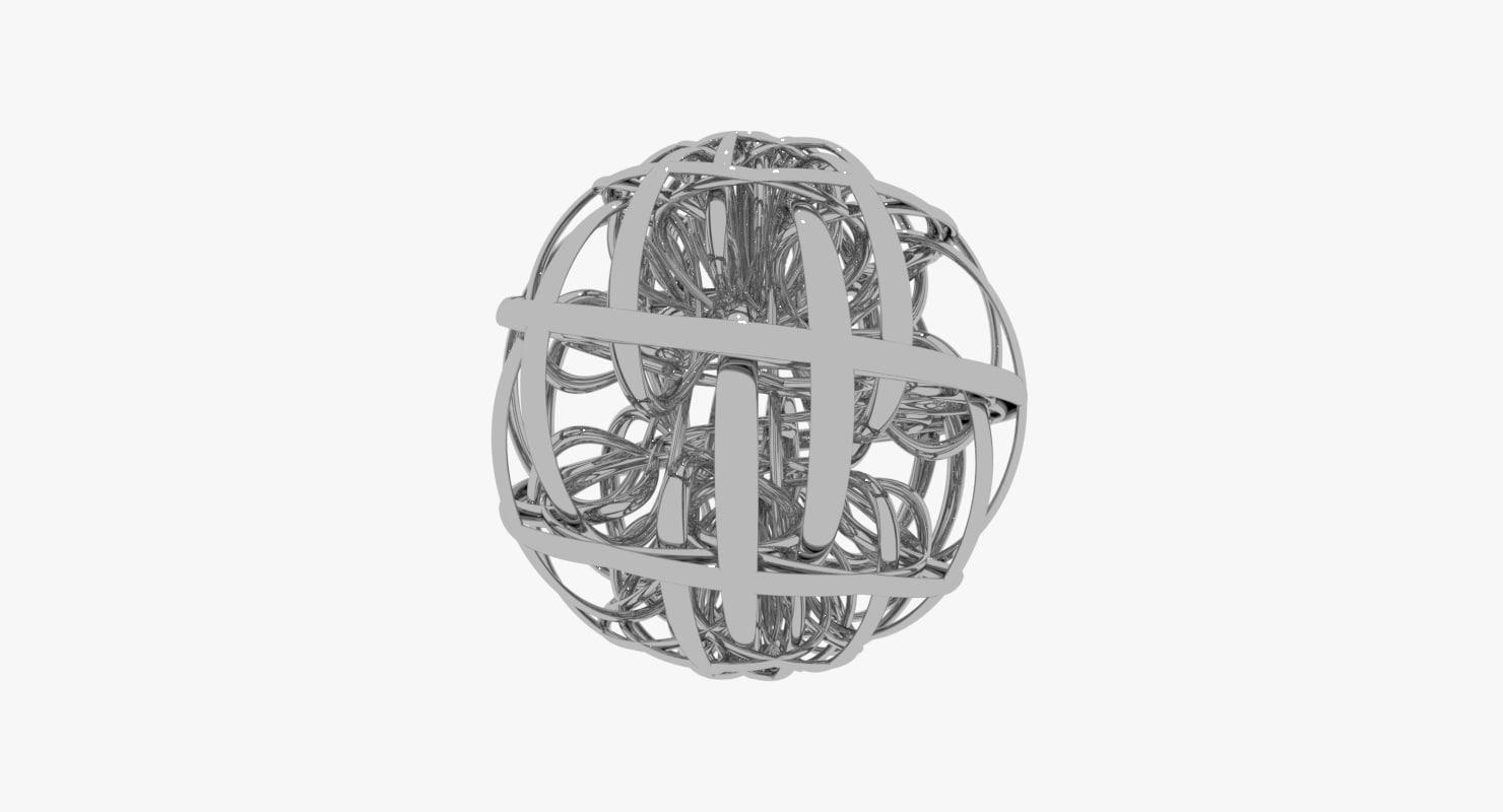 3D spaghetti world sculptures lobbies