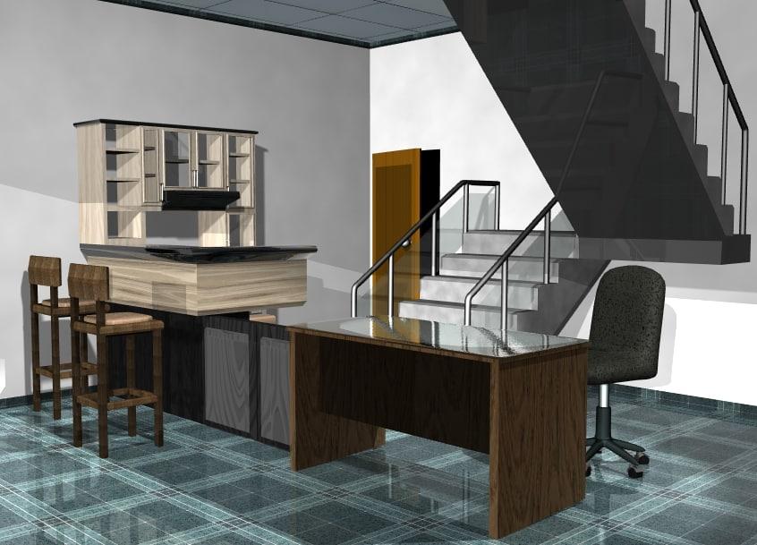 furniture minimalist interior 3D