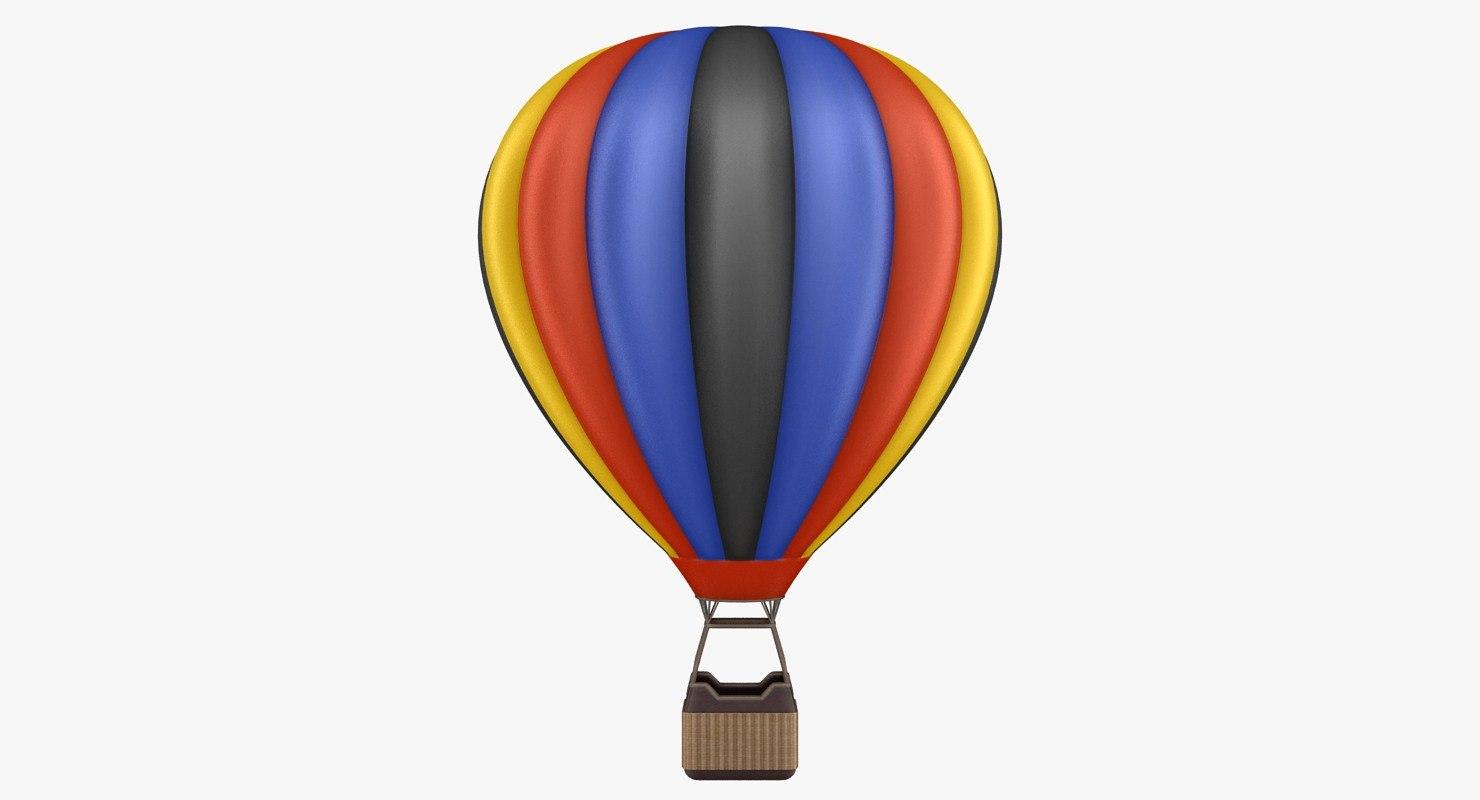 hot air balloon 03 3D