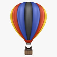 hot air balloon 03 3D