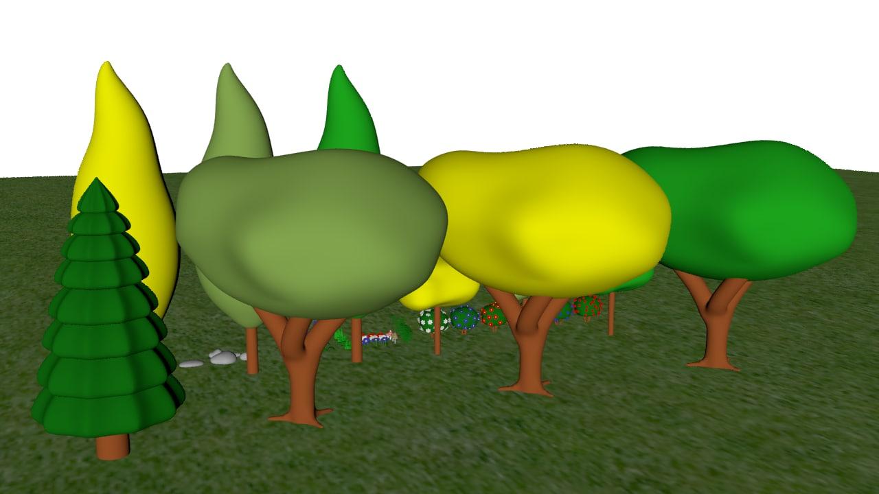 toon trees 3D