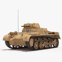 3D model panzerkampfwagen ausf sd kfz