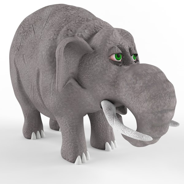 3D children plastic toy elephant cartoon