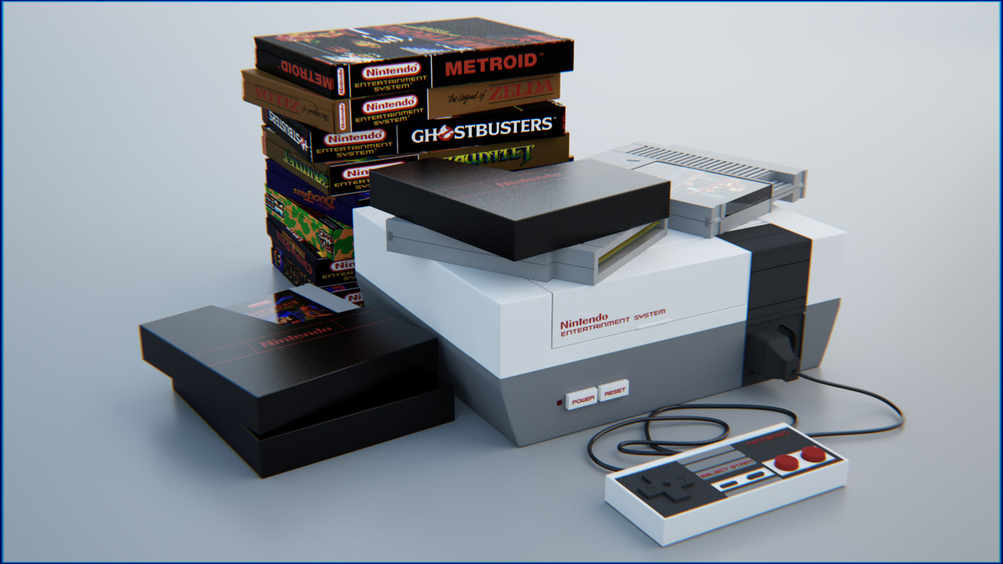 nes nintendo entertainment - model