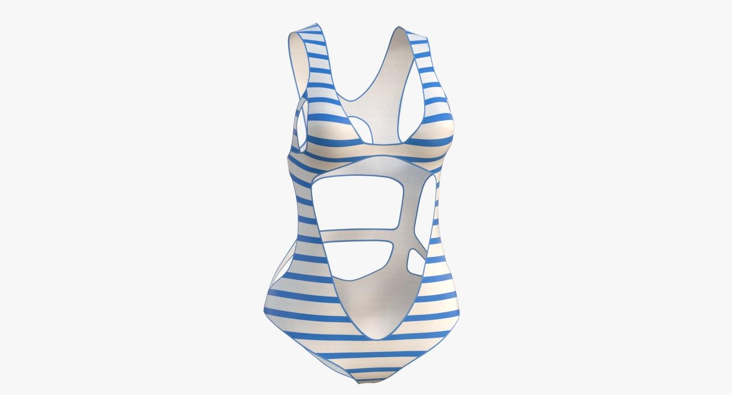 swimsuit 2 3D model