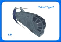 space ship patriot type 3D