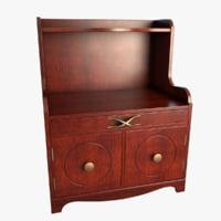 3D mahagony nightstand