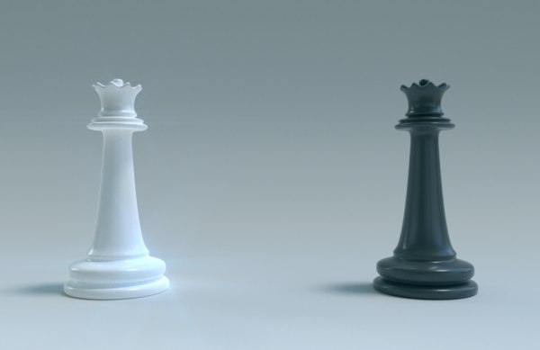3D model chess queen