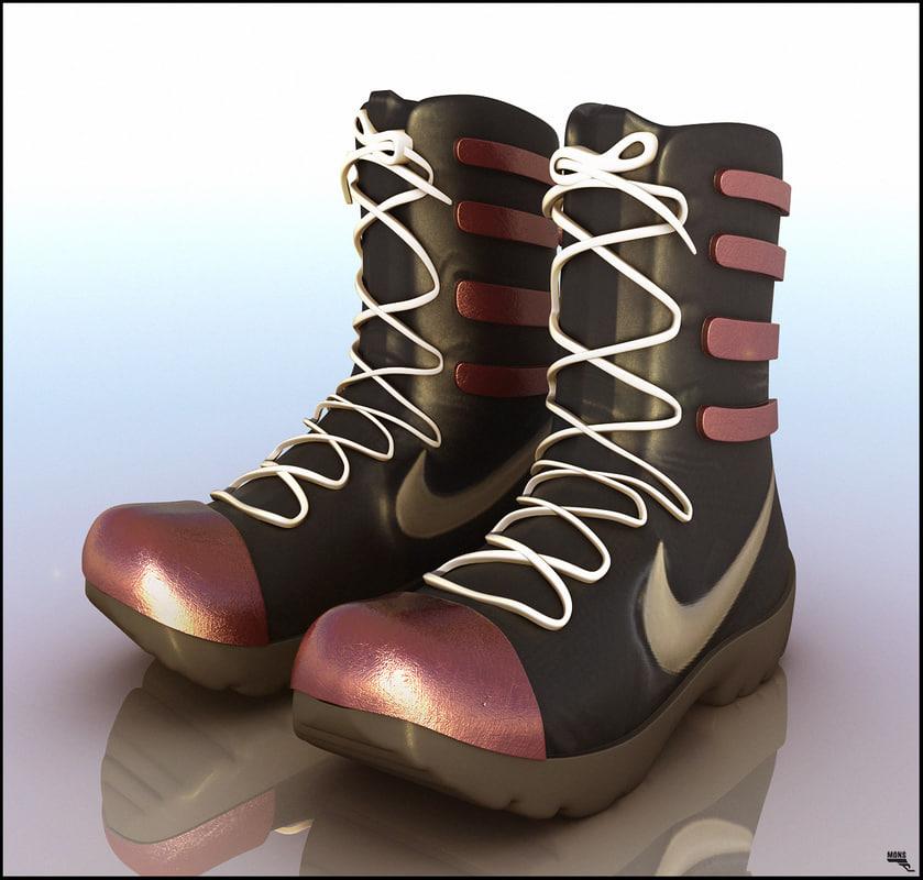 3D boots sport s model