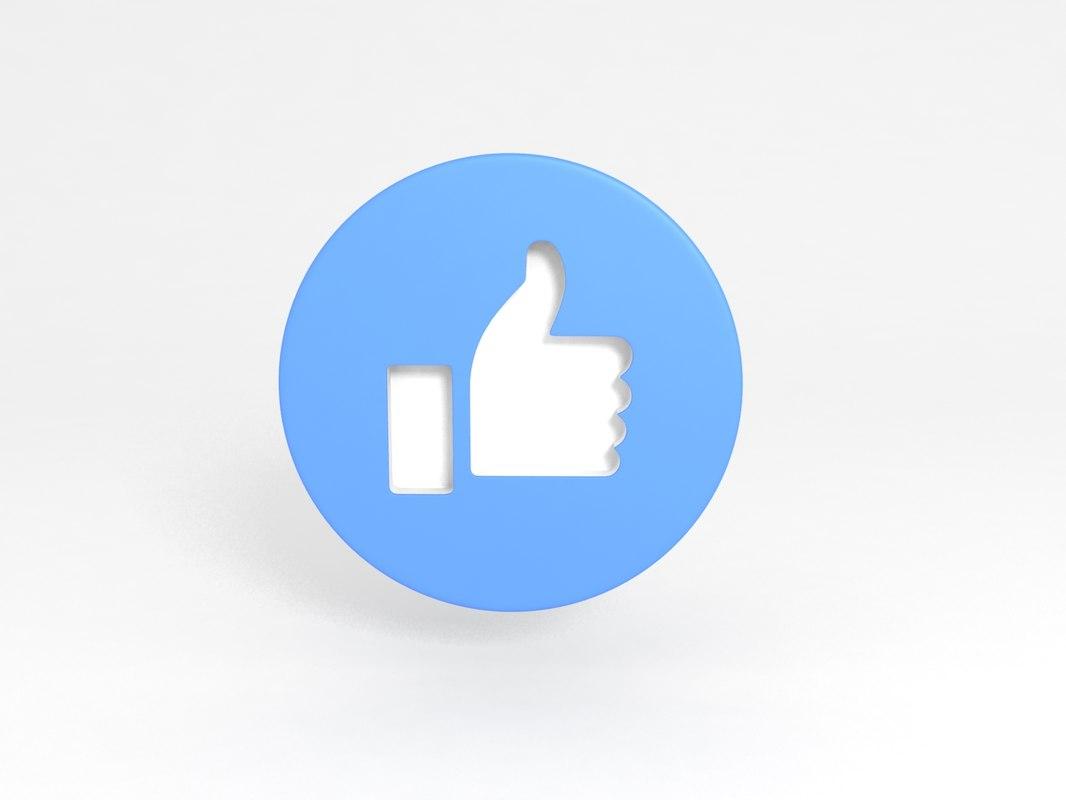 facebook icon 3D model
