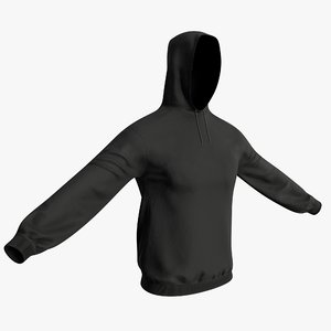 hooded sweatshirt 3D