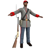 confederate soldier model