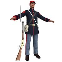3D union soldier