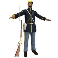 3D model union soldier
