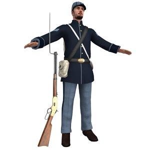 union soldier 3D model