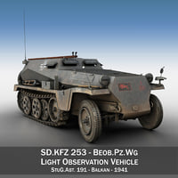 3D model sd kfz 253 -
