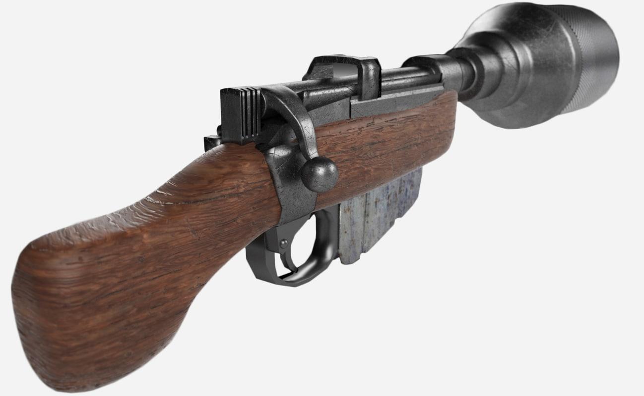 3D ca-87 blaster model