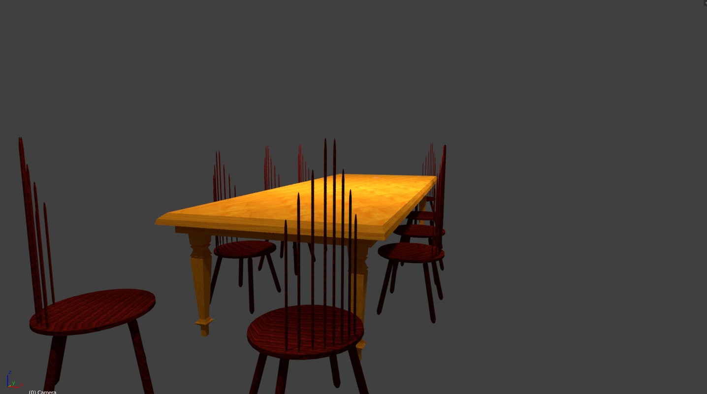 table chairs model
