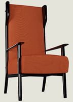 3D retro armchair model