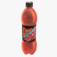 3D mountain dew bottle model