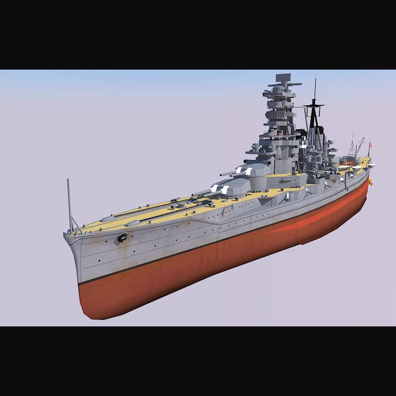 3D model ijn haruna