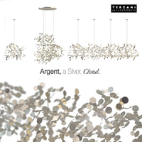 chandelier terzani argent silver cloud 3D model