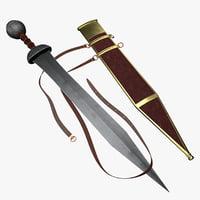 3D - roman sword gladius