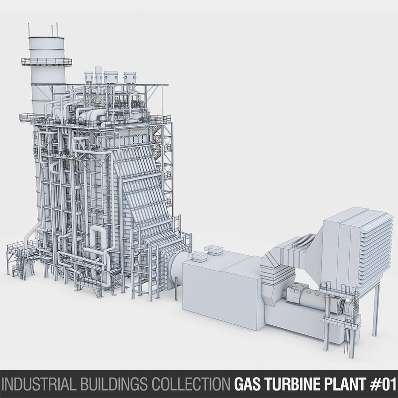 gas turbine plant build 3D model