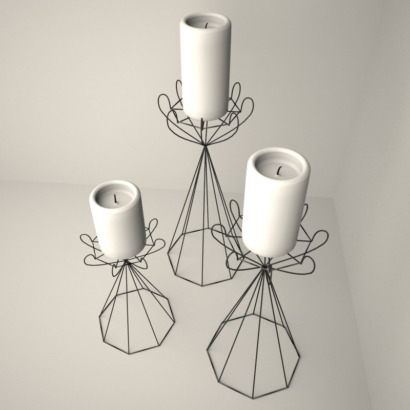 candle holders 3D model