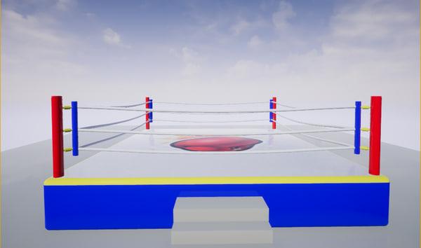 boxing ring 3D