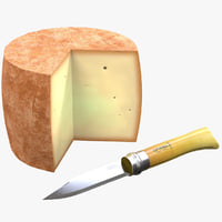 cheese opinel knife 3D