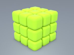 3D cube model