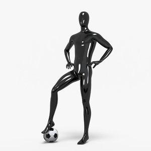 male sport mannequin 3D model